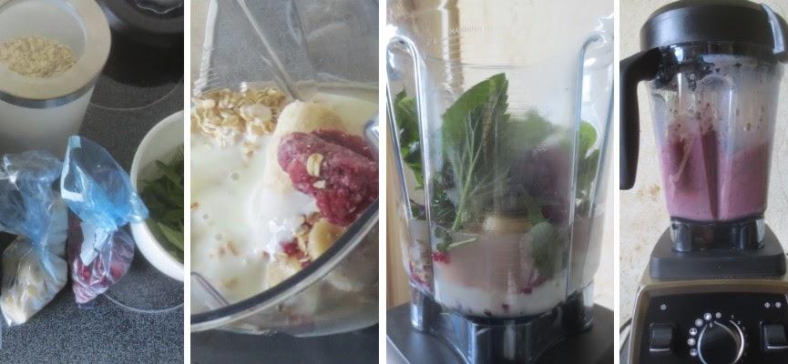 Zubereitung Wildkräuter-Obst-Buttermilch-Shake