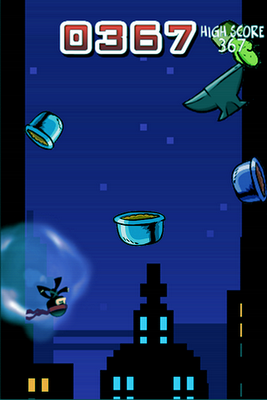 Ninja jump game for iPhone made using Gamesalad