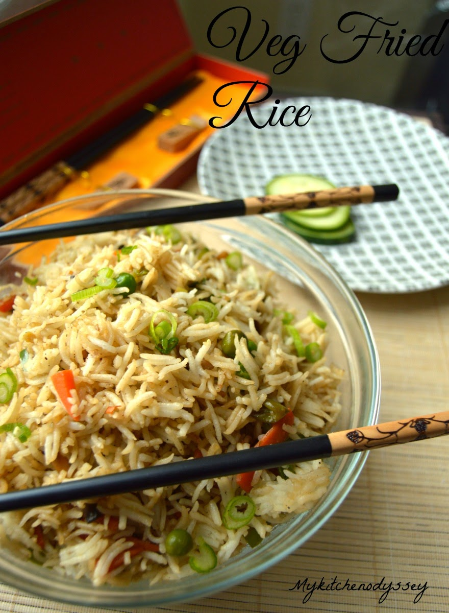 Vegetable Fried Rice Recipe | Indo Chinese