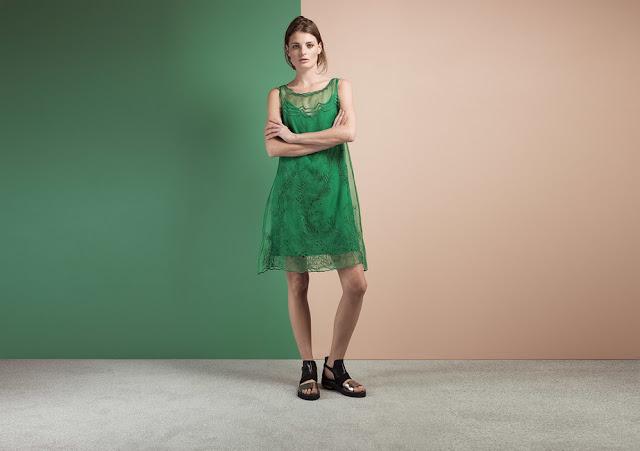 green chiffon dress, green embroidered lace dress,
