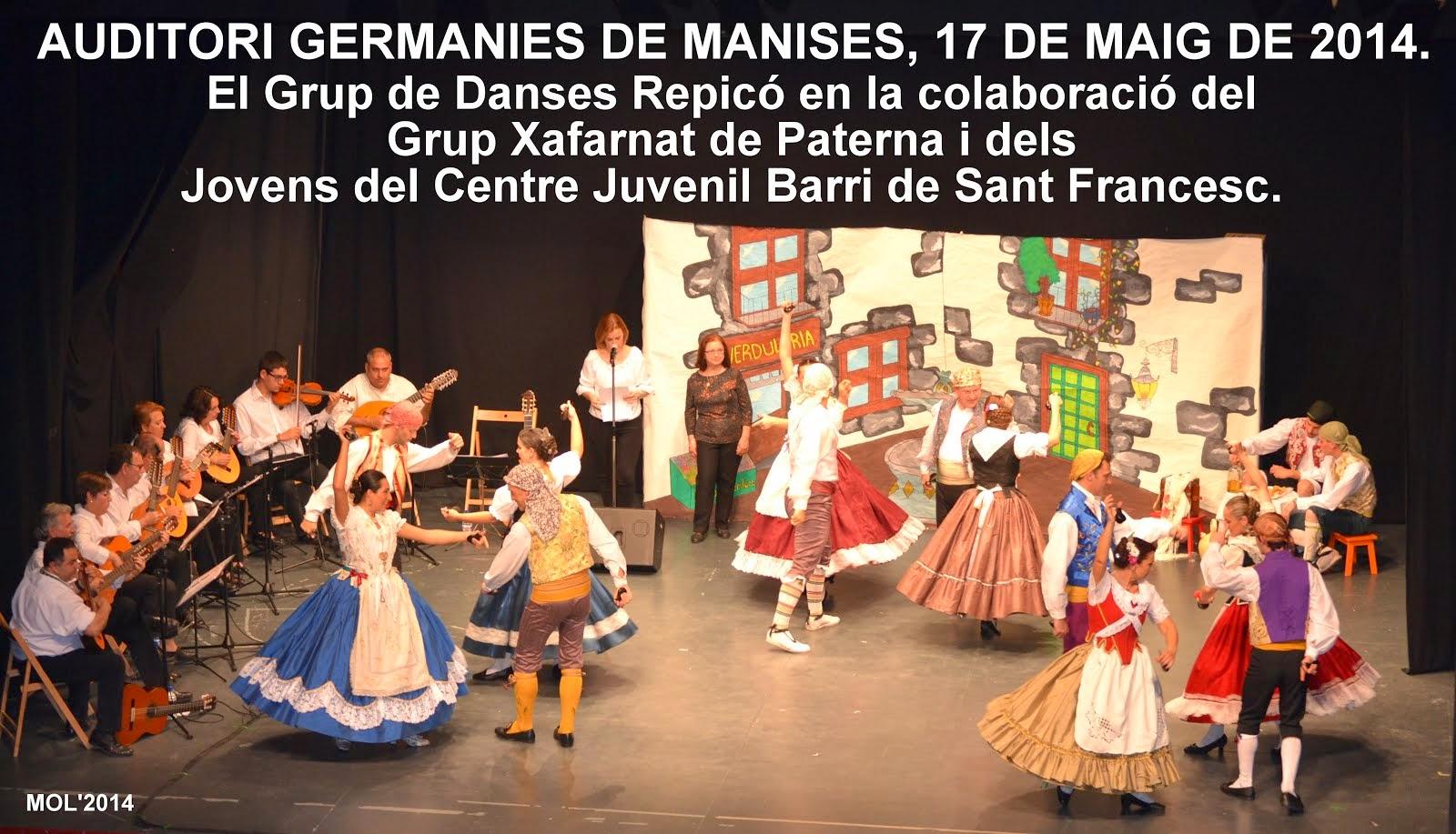 EL GRUP DE DANSES REPICÓ, MUSICA I VALLS VALENCIANS. SÁBADO 17 DE MAYO