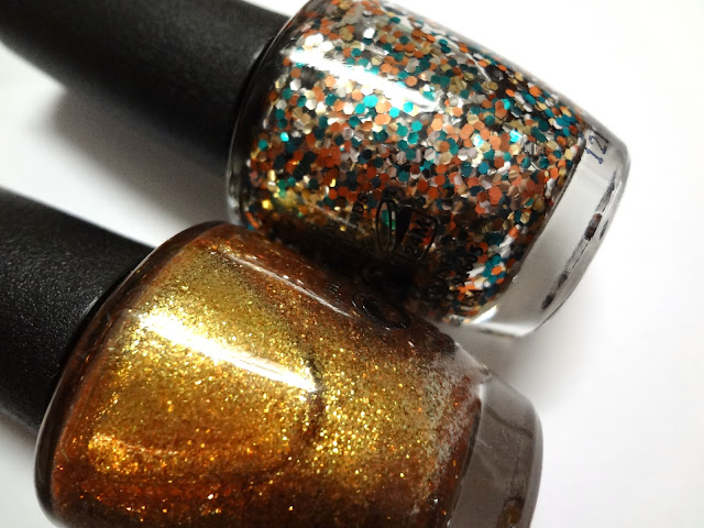 OPI ASOS Exclusive Skyfall Duo The set includes GoldenEye (left) and The Living Daylights (right).