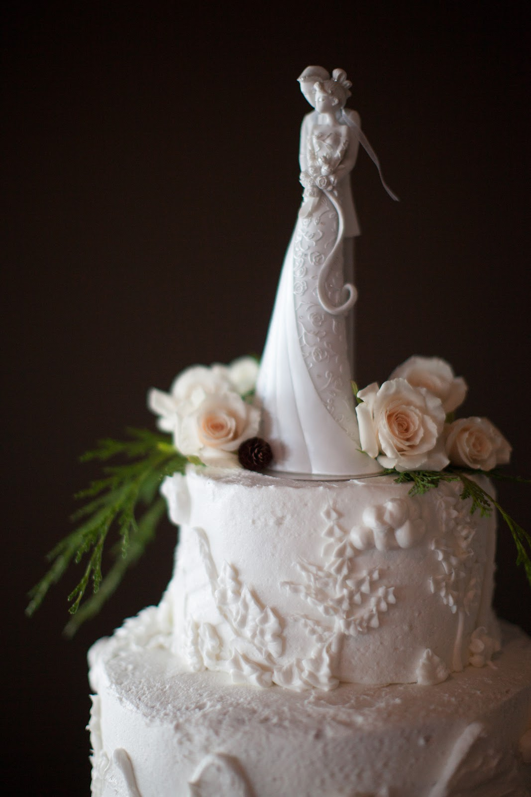 His Hers and Ours DIY RUSTIC ELEGANCE WEDDING CAKE