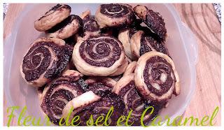 Escargots au chocolat et pralin