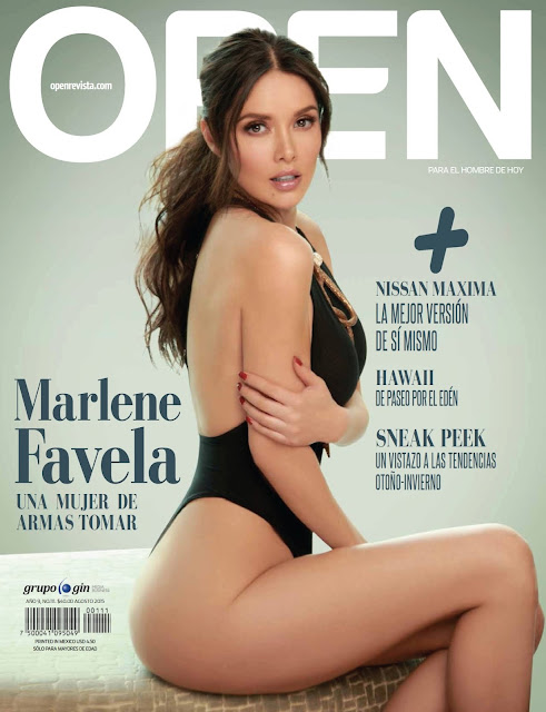 Actress, Model @ Marlene Favela - Open Magazine Mexico, August 2015