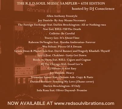 The R.E.D.SOUL Music Sampler---6th Edition (FREE DOWNLOAD...JUST CLICK)