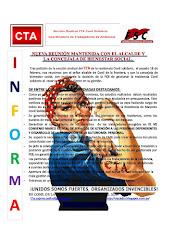 NUEVA REUNIÓN MANTENIDA CON EL ALCALDE Y LA CONCEJALA DE BIENESTAR SOCIAL.