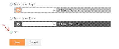 Navbar Configuration Menu