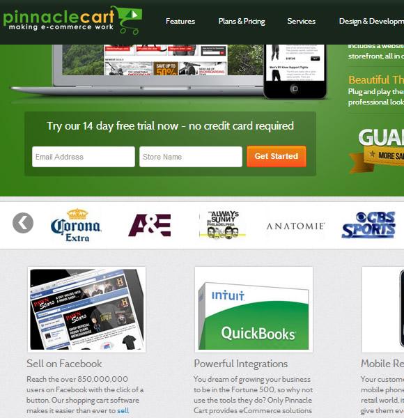 Ecommerce Website Name : Pinnacle Cart