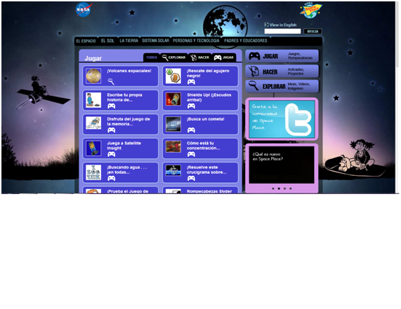 Páxina NASA