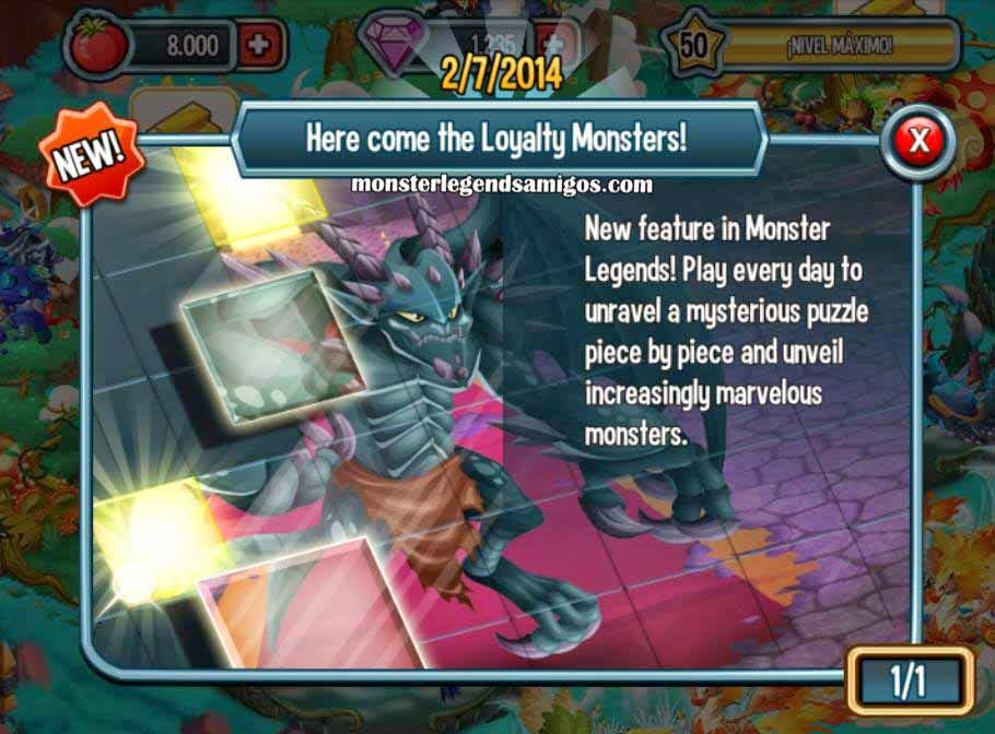 imagen de la recompensa fidelidad de monster legends