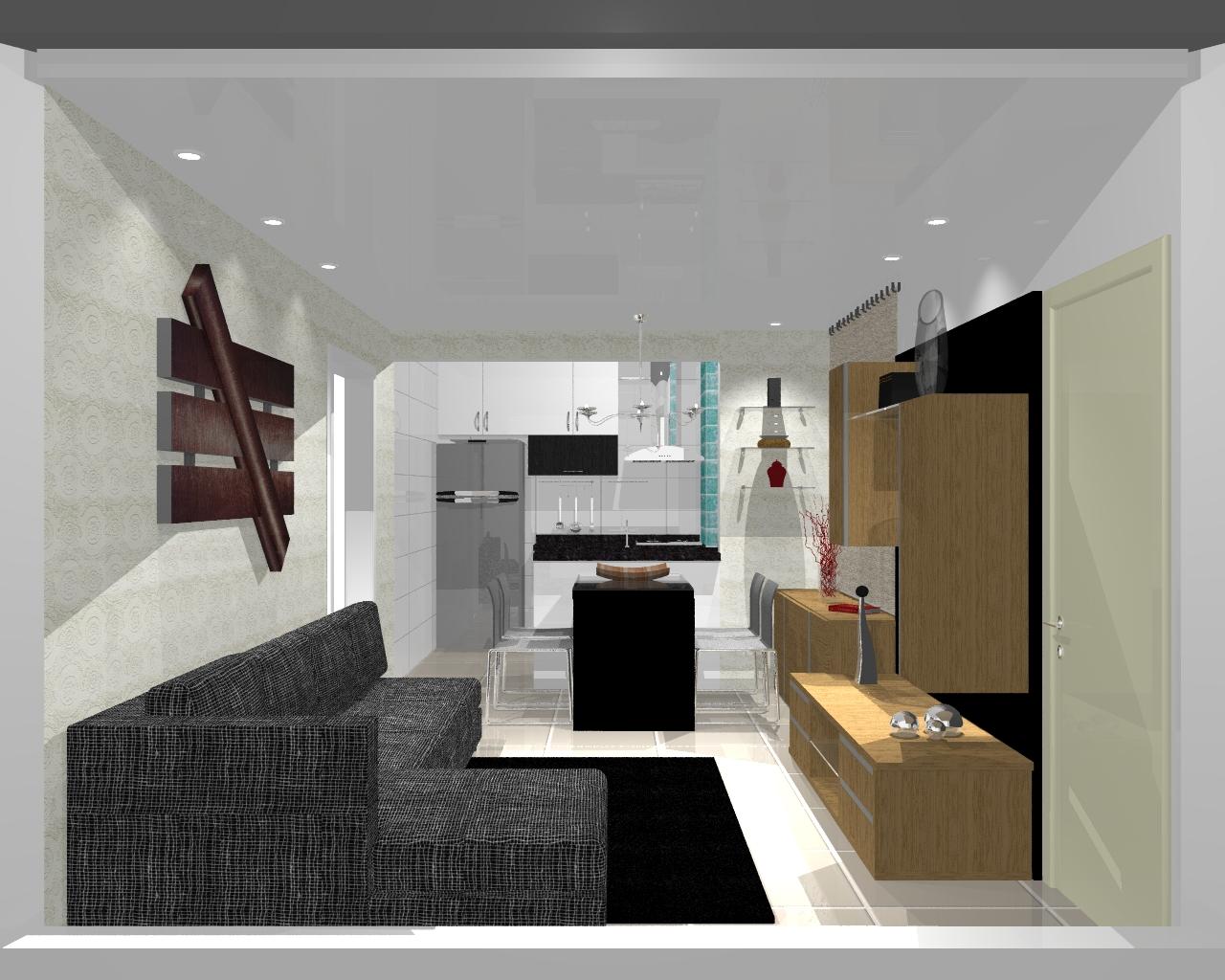 integração dos ambientes. Sala de Estar Sala de Jantar e Cozinha #645034 1280x1024