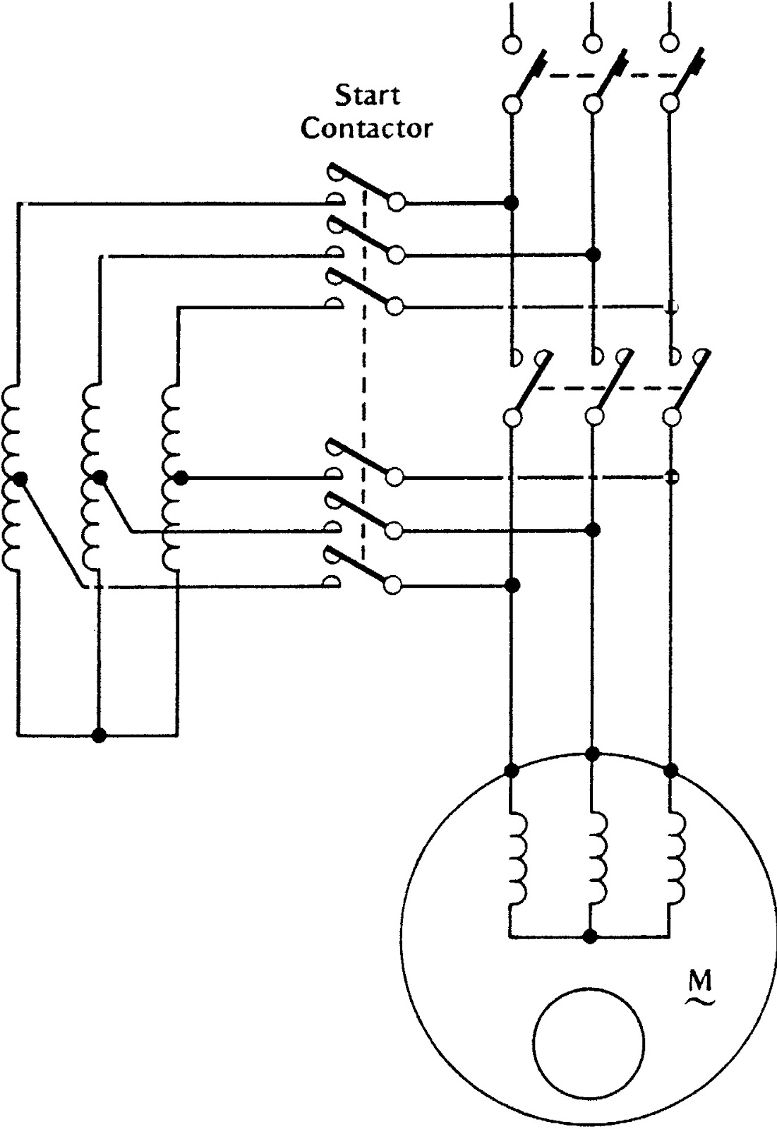 Ac Dc Electrical Symbols on wiring diagram of autotransformer starter