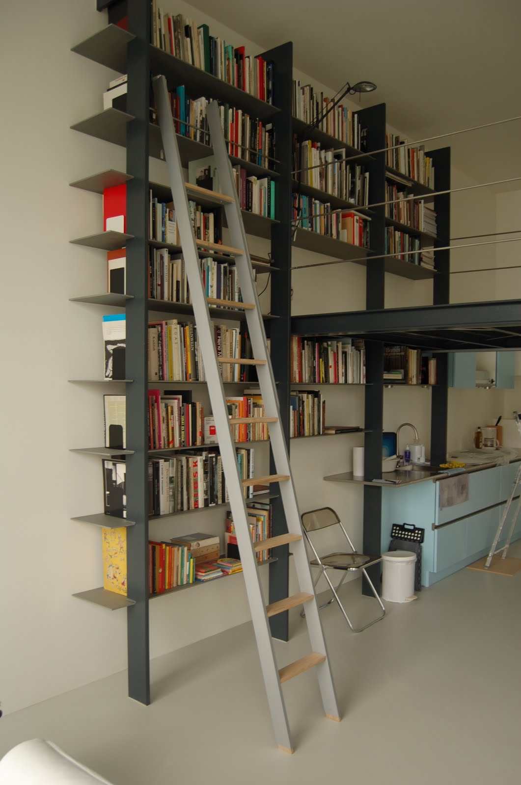 aluminium boekenkast ladder