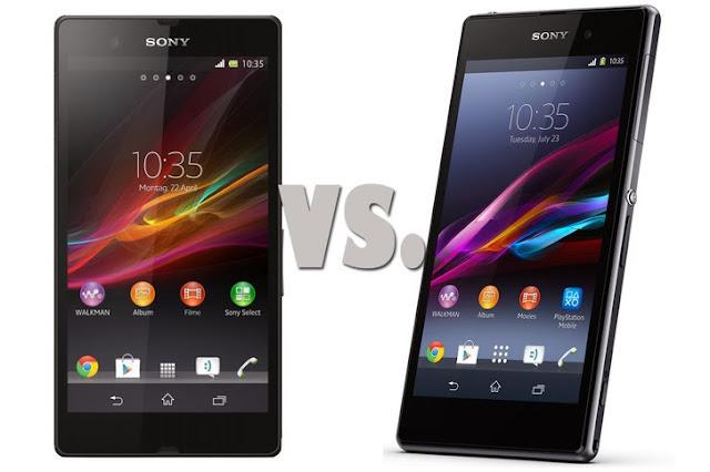 مقارنة بين Sony Xperia Z  VS  Sony Xperia Z1