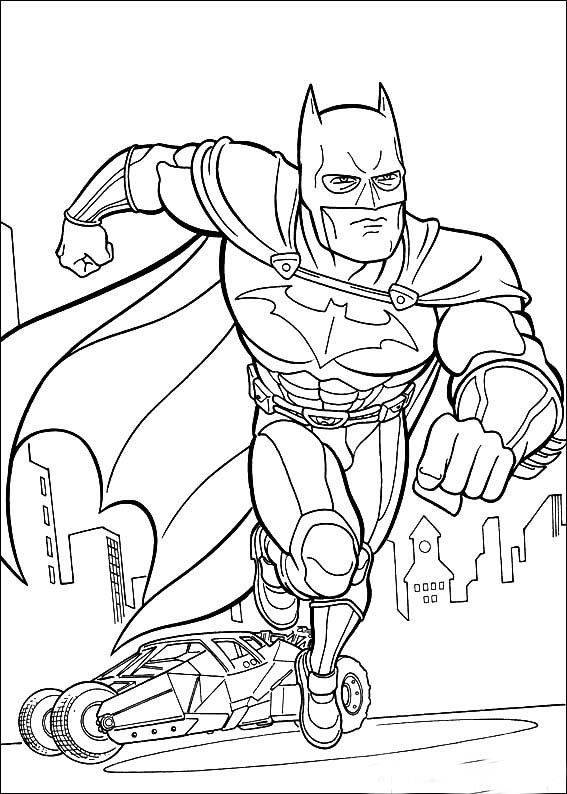 coloring batman pages - photo#19