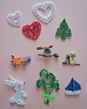 Paper n quill crafts quilling kits for beginner for Quilling designs for beginners
