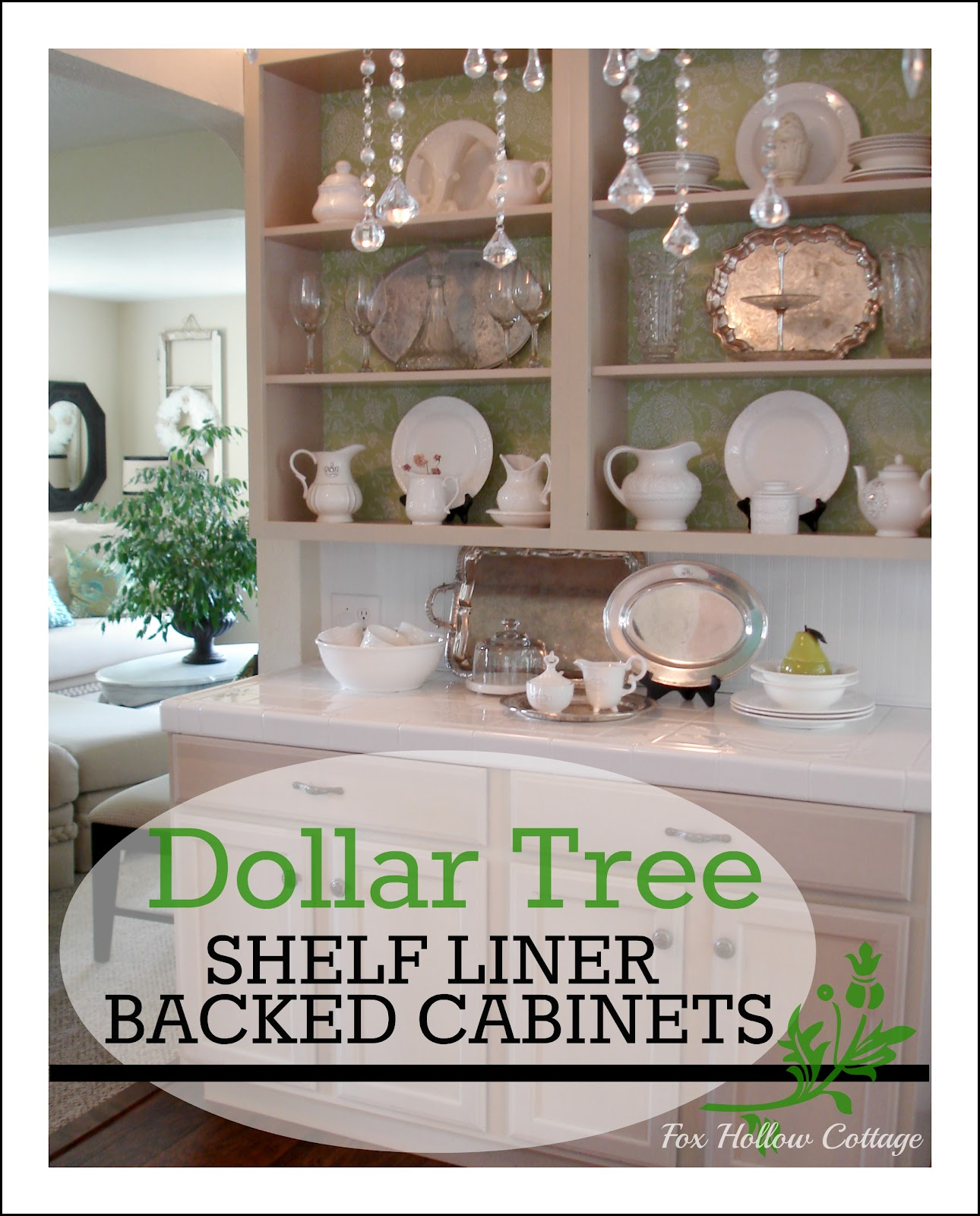 kitchen cabinet makeover guest post from fox hollow With kitchen cabinets lowes with dollar tree wall art