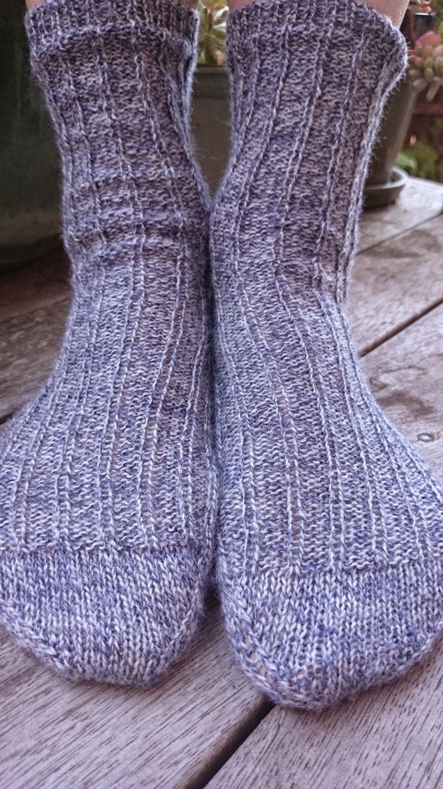 knitted knitting socks marled lang jawoll marle handmade