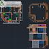 مخطط بيت صغير للاصطياف اوتوكاد dwg