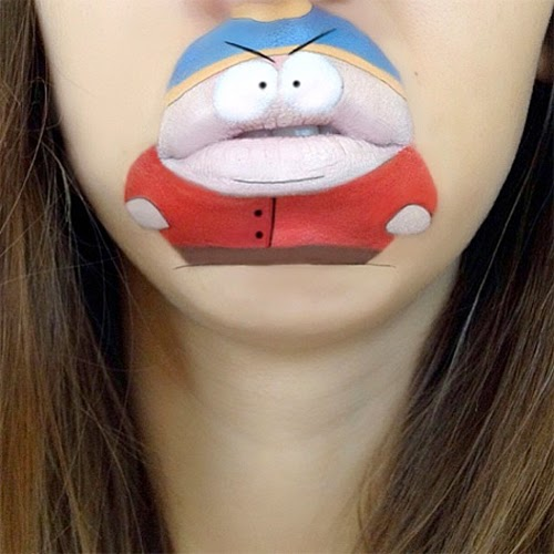Mouth Cartoon Make-up by Laura Jenkinson
