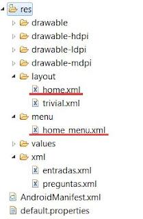 Android: Desarrollo de opciones de menú en layouts (Activity) - Estructura de carpetas