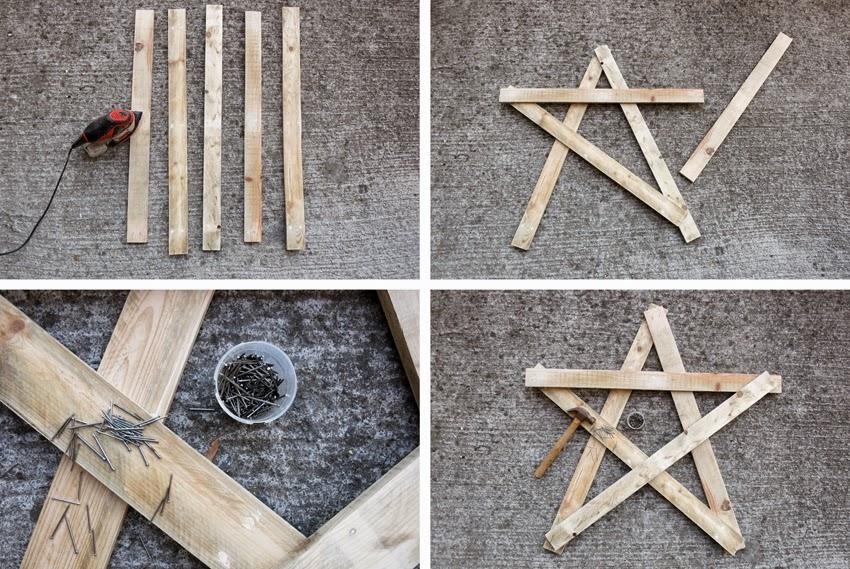 Diy estrella con madera de palet y polvo de hadas1