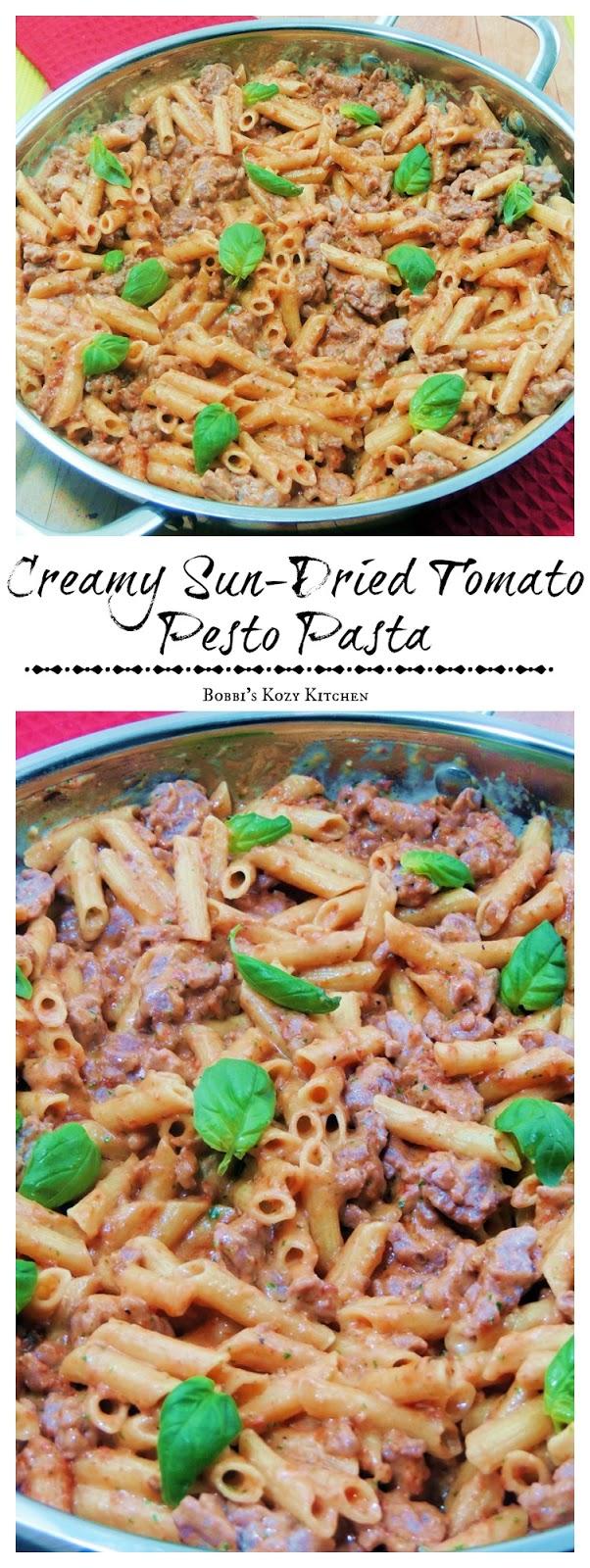 Creamy Sun-Dried Tomato Pesto Pasta Bobbis Kozy Kitchen