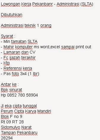 Administrasi (SLTA)