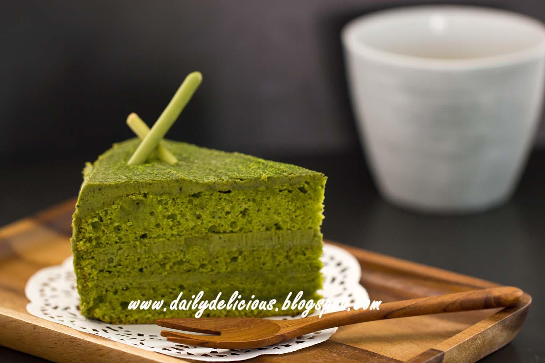 Matcha Green Tea Chiffon Cake Recipe