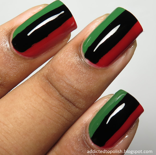 Magnificent Flags Nail Design Festooning - Nail Paint Design Ideas ...