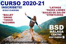 NUEVOS CURSOS 20-21.CURSOS DE BAILE EN BSD MÁLAGA CENTRO.