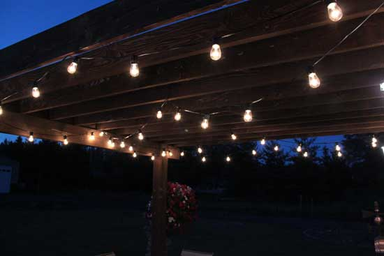 Creative Juices Decor: Adding String Patio Lights To The Pergola    Glamorizing Part II