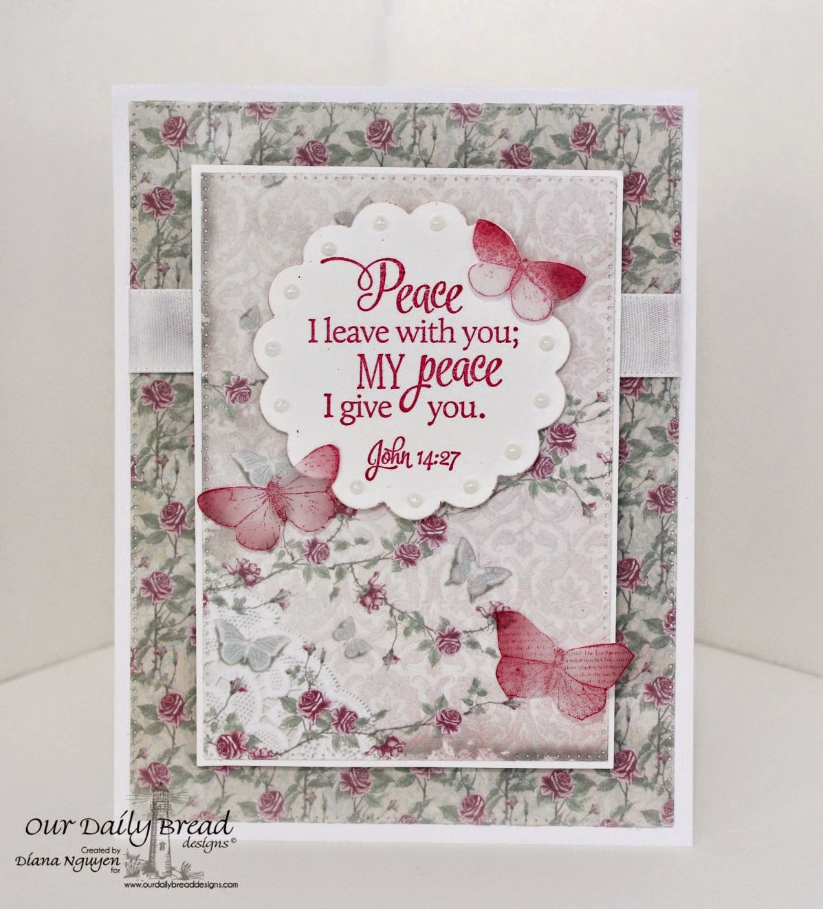 Our Daily Bread Designs, Scripture Collection, Recipe & Tag, Flourished Star Pattern, Shabby Rose Collection, designed by Diana Nguyen