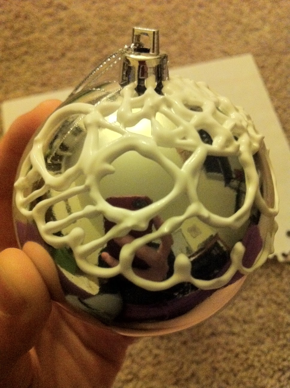 Life and other shenanigans puffy paint ornaments round 2 - Decoracion navidad 2014 ...