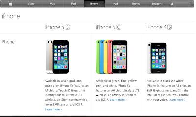 Hanya iPhone 4s,5c dan 5s
