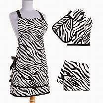 Country girl bloggin sin in linen zebra kitchen linen set for Zebra kitchen set