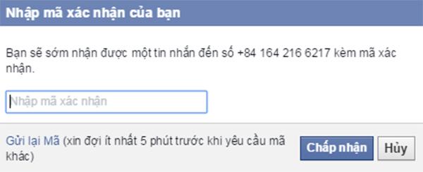 Mở tài khoản facebook bị khóa bằng điện thoại