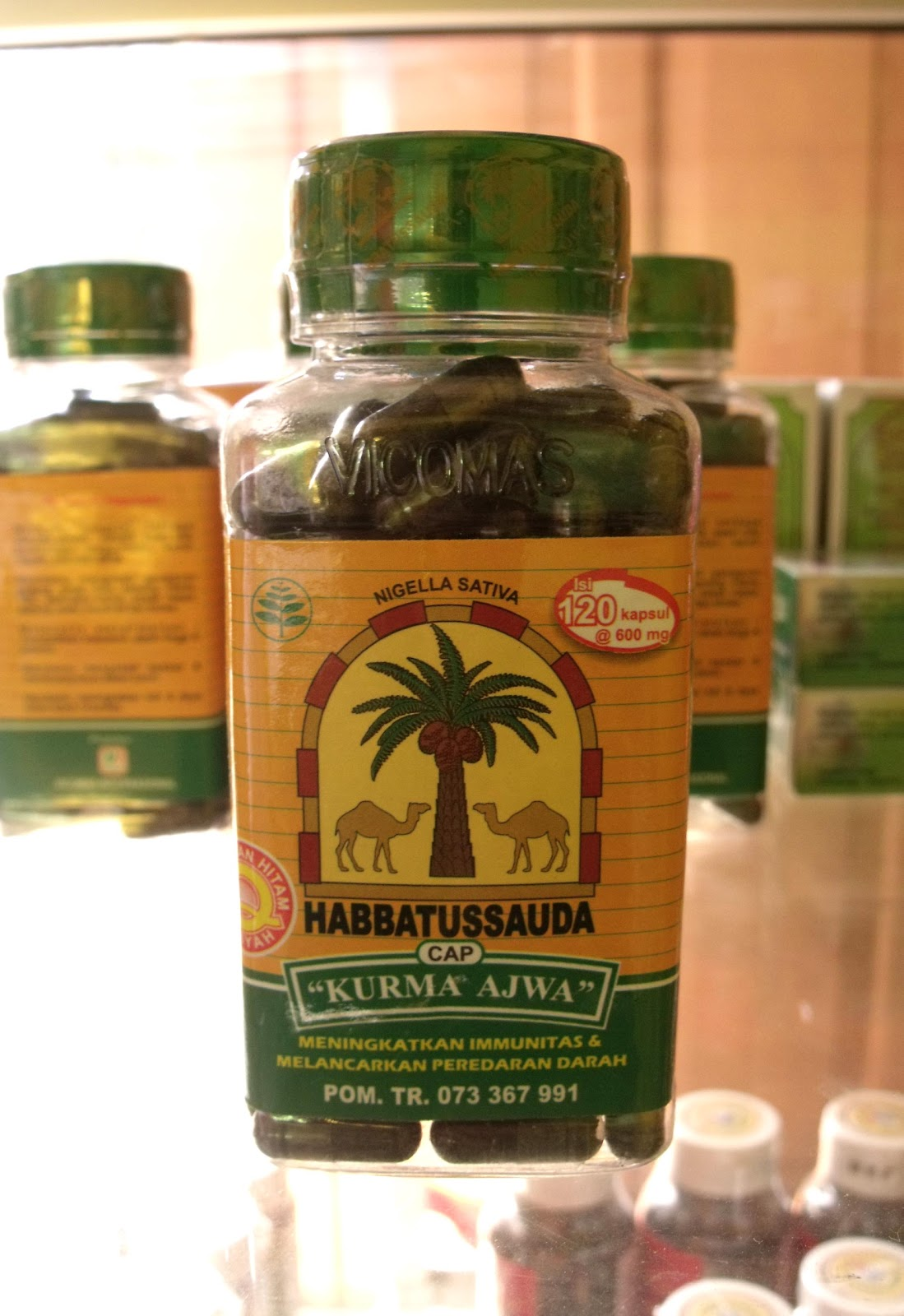 Pesan Herbal Online Hebal Murah Harga Grosir Habbatussauda Kurma Ajwa 120 Kapsul Kap