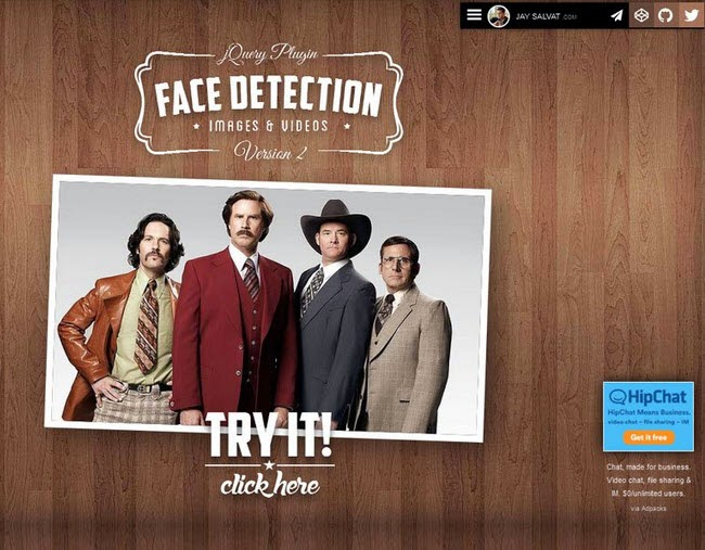 JQuery Face Detection Plugin