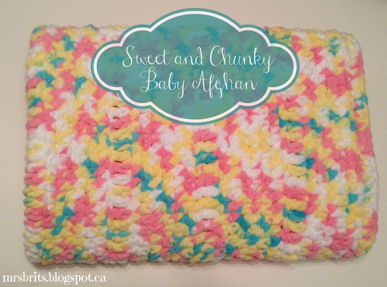 Easy Crochet Baby Blanket Patterns For Beginners : MrsBrits: Sweet and Chunky Baby Afghan {Crochet Pattern}