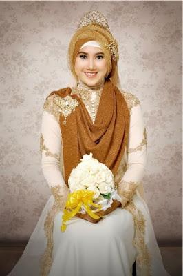 cara memakai jilbab untuk kebaya pesta