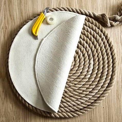 round rope rug diy