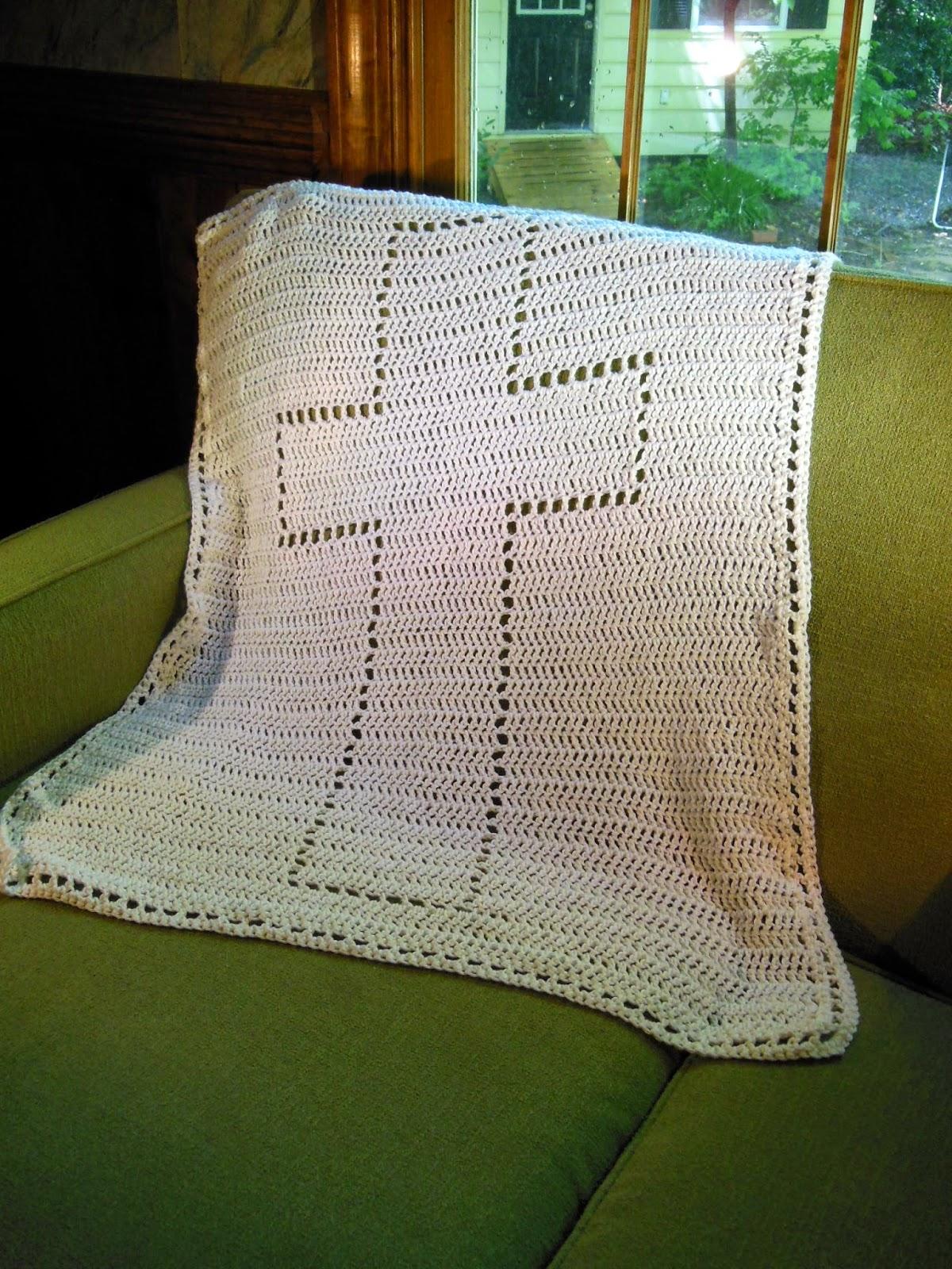 Christening Blanket Knitting Pattern : Hamburke: Baptism Blanket - free crochet pattern