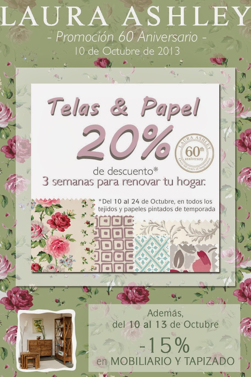 Me gusta ahorrar 20 en telas y papel en laura ashley - Telas laura ashley ...