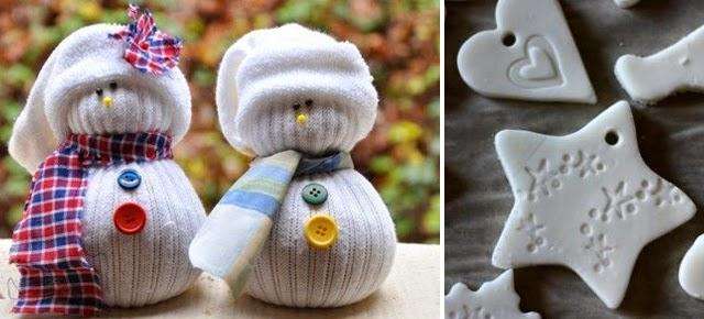 munecos-nieve-calcetin-adornos-arbol-navidad-pasta-sal-diy