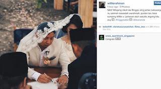 ijab kabul Ringgo Agus Rahman saat menikahi Sabai Morscheck