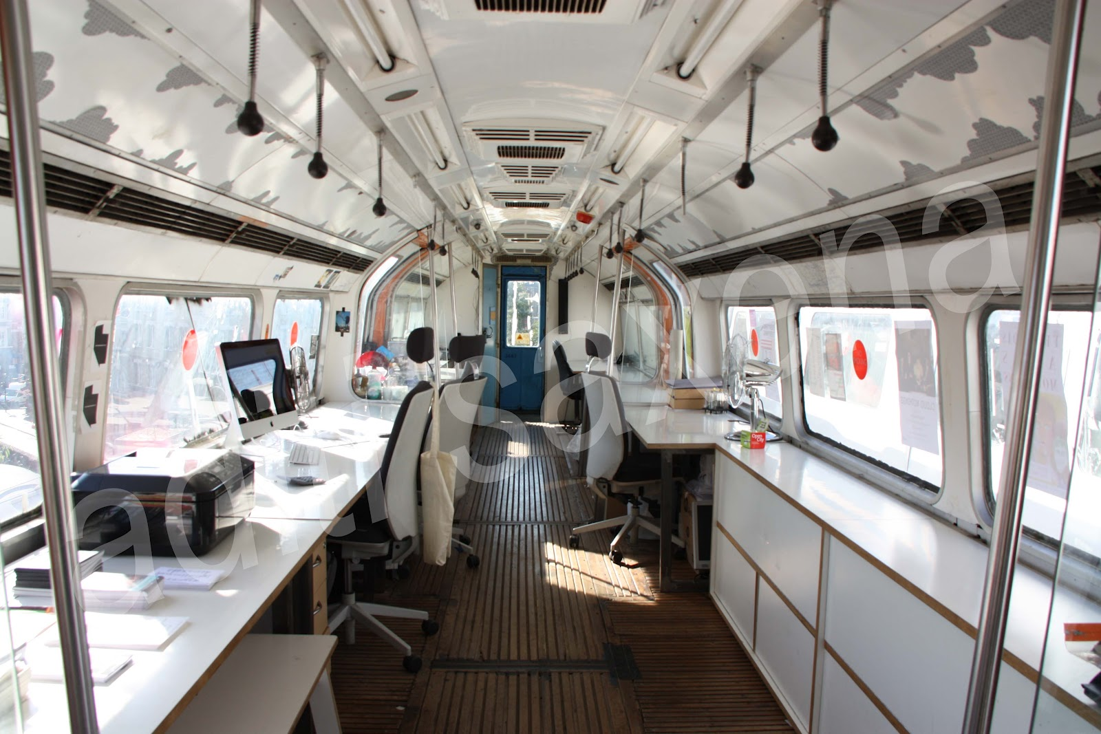 tube office. inside one of the converted carriages image aditi saxena tube office a