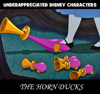 Disney Horn Ducks Alice Wonderland underappreciated Tulgey