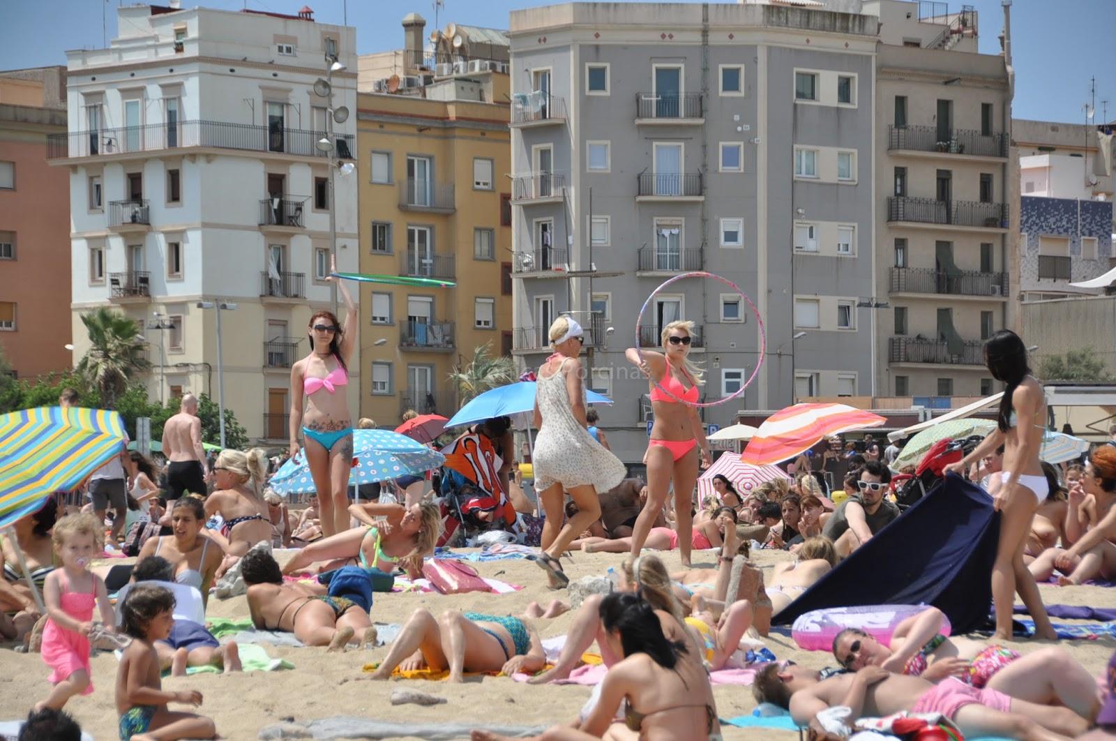 Dia de playa en Barcelona